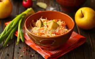 Квашеная капуста с яблоками рецепт