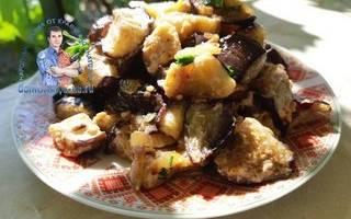Баклажаны «как грибы» жареные
