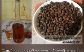 Настойка на скорлупе кедровых орехов рецепты на водке спирту
