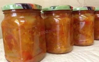 Анкл бенс из кабачков на зиму рецепт классический с помидорами с томатной пастой с морковью с карри