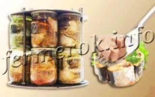 Скумбрия в автоклаве в домашних условиях рецепты с овощами в томате