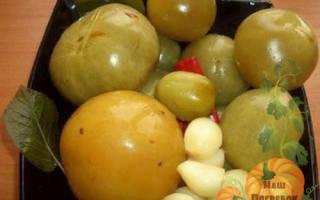 Квашеные зеленые помидоры в ведре