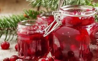Варенье из клюквы на зиму простой рецепт без варки «пятиминутка»