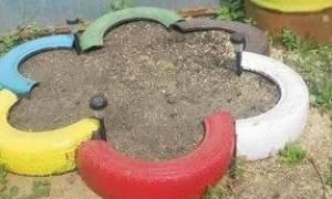 Песочница из покрышек своими руками + фото