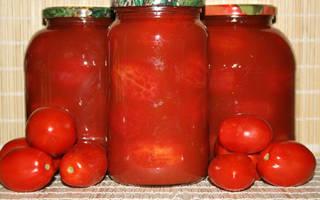 Очищенные помидоры на зиму в собственном соку