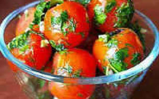 Маринованные помидоры быстрого приготовления рецепты с чесноком в пакете дольками на закуску