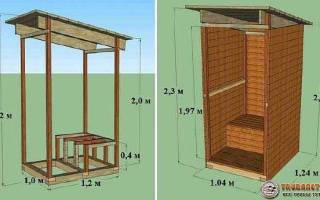 Деревянный туалет для дачи своими руками чертежи + фото