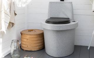 Средство и бактерии для туалета на даче