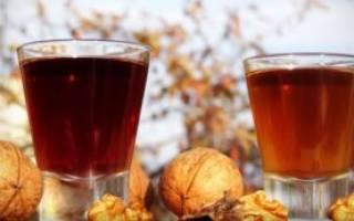 Настойка на перегородках грецкого ореха на самогоне рецепт польза и вред