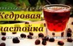 Настойка на кедровых орехах на водке рецепты применение лечение отзывы